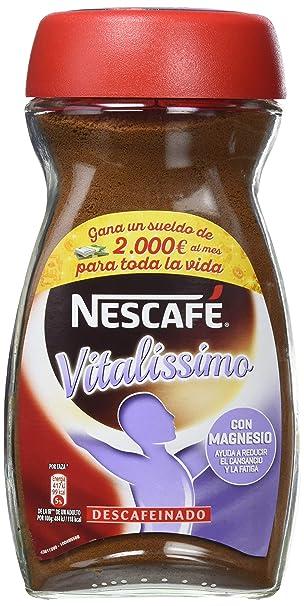 Nescafé Vitalissimo Descafeinado - Café Soluble - 2 Paquetes de 200 g