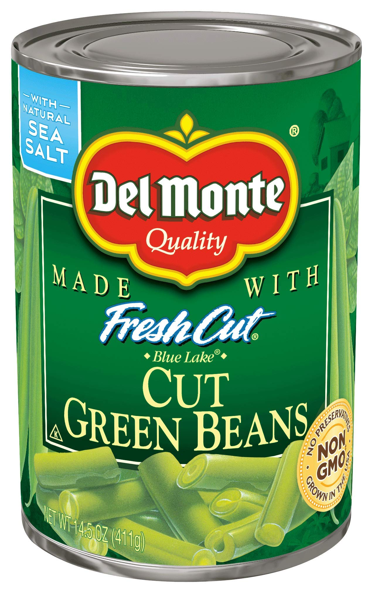 Del Monte Canned Fresh Cut Blue Lake Cut Green Beans, 14.5-Ounce