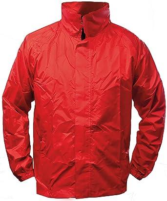 60d885d5f24f11 Fifty Five Leichte Herren Regenjacke Funktions Jacke Wellington Rot S  Winddicht Wasserdicht