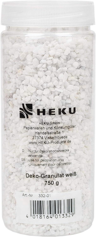 in wiederverschlie/ßbarer Dose 750 Gramm HEKU 30332-01: Deko-Granulat wei/ß 750g
