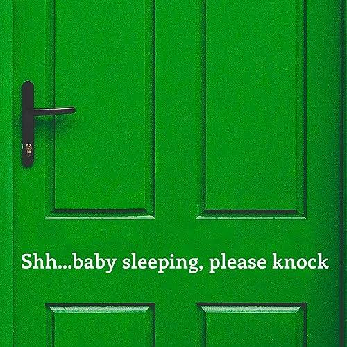 Amazon Shhh Baby Sleeping Decal Baby Sleeping Door Decal Baby