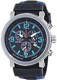 Nautec No Limit Herren-Armbanduhr XL Speed Chronograph Quarz Kautschuk SE QZ/RBBLSTSTBK