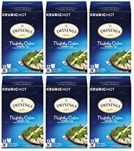 Twinings Nightly Calm K-Cups, 12 Count (Pack of 6)