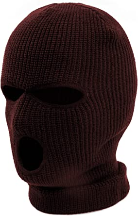 AcademyFits Quality Full Face Knit Ski Mask Beanie Men Women Unisex One Hole Three Hole Winter Headwear Face Mask Protection