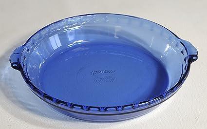 Pyrex Cobalt Blue Fluted Deep Dish Pie Plate with Handles 9.5u0026quot; & Amazon.com: Pyrex Cobalt Blue Fluted Deep Dish Pie Plate with ...