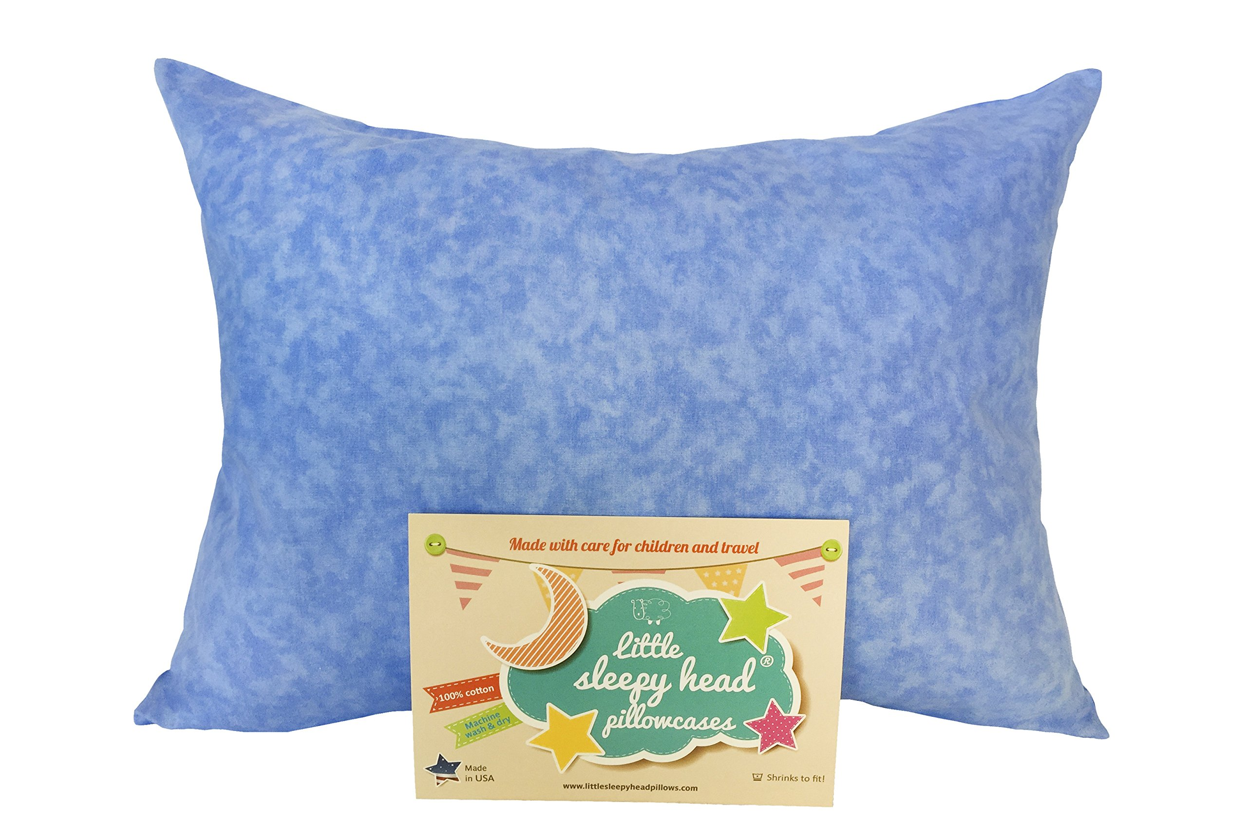 Little Sleepy Head Toddler Pillowcase - Original Collection: Blue Marble, 13 X 18