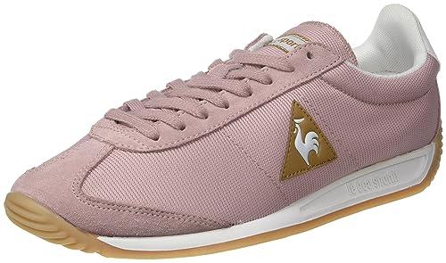 Le Coq Sportif Quartz W Nylon, Entrenadores Bajos para Mujer, Rosa (Pale Mauve), 41 EU: Amazon.es: Zapatos y complementos