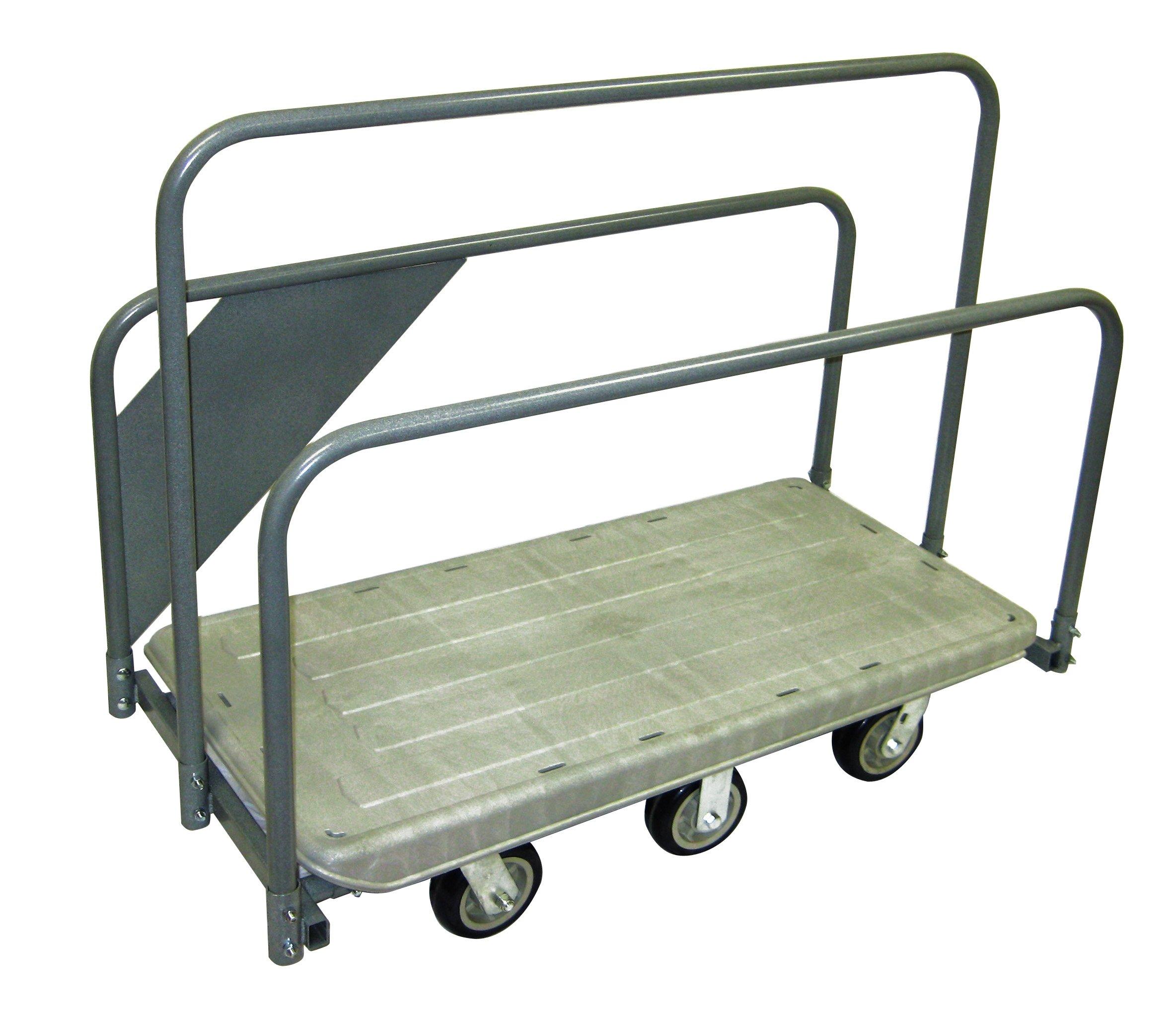 R. W. ROGERS RWR-CRT-MATTCRT 24'' x 48'' Plastic Deck Rail Cart, Grey