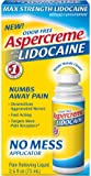 ASPERCREME With 4% Lidocaine 2.5 oz. No Mess Applicator (Pack of 1)