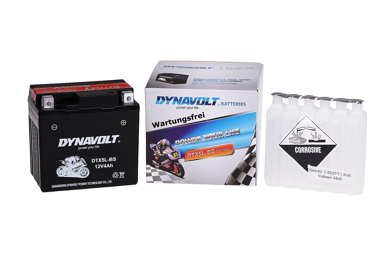 Jmstar Kymco Jonway Mawi MKS Wartungsfreie 12V Roller Batterie YTX5L-BS // DTX5L-BS incl.7,50 Pfand JinIun Karcher Longbo Malaguti Motofino Keeway Longjia MBK