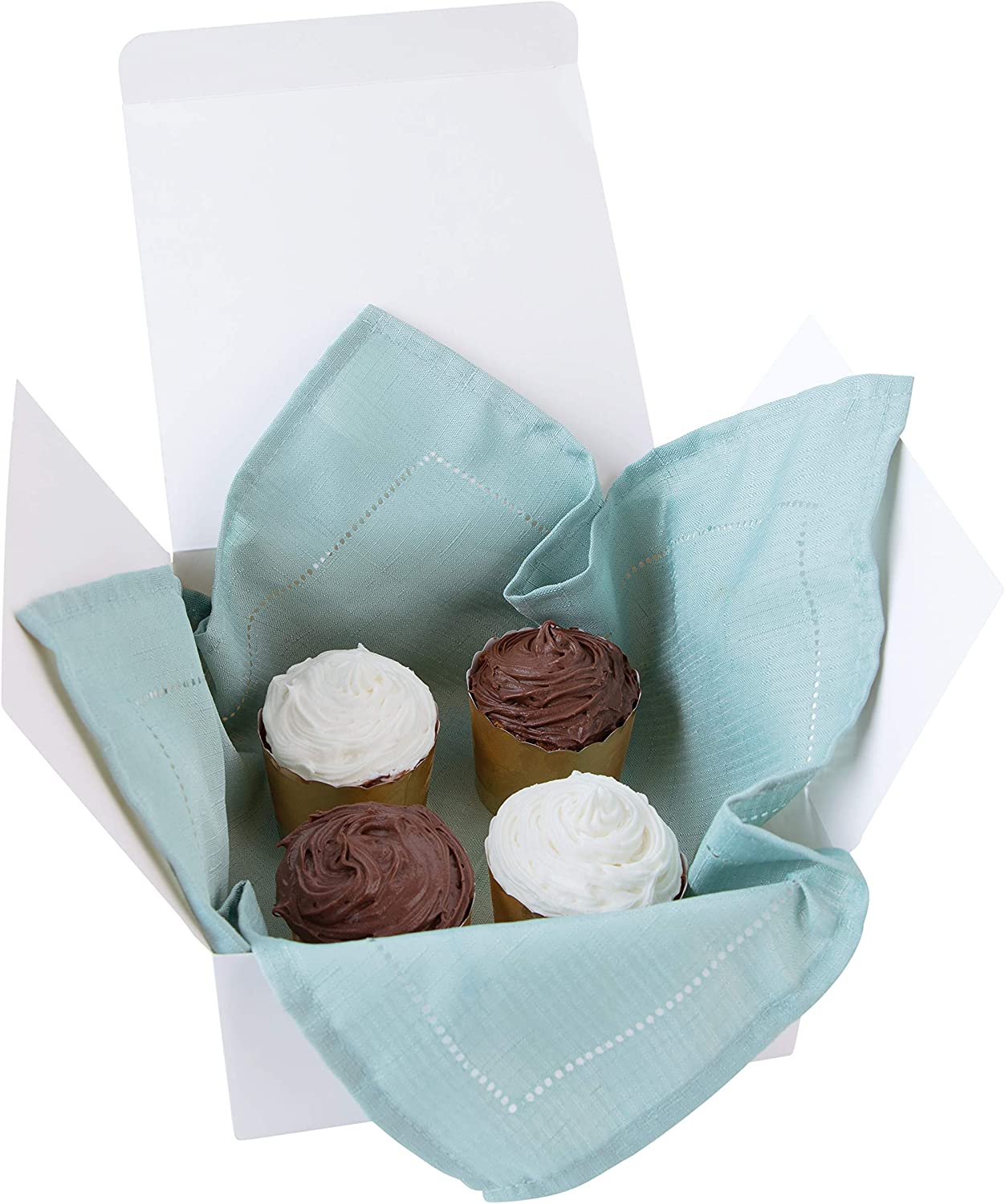 Mugs Cupcakes Cakes Cookies White Gift Boxes 8 x 8 x 4 Great For All Occasions 10 Pack Boxes for Gifts Craft box