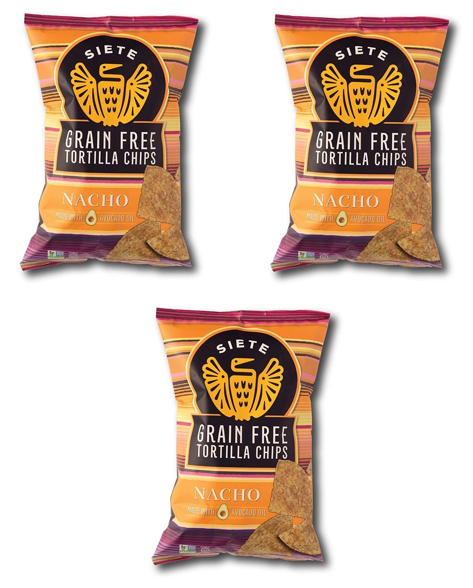 Siete Nacho Grain Free Tortilla Chips, 5 oz bags, 3-Pack by Siete