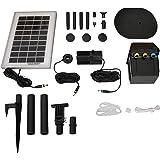 Sunnydaze Solar Pump and Solar Panel Kit With Battery Pack & LED Light, 79 GPH, 47-Inch Lift