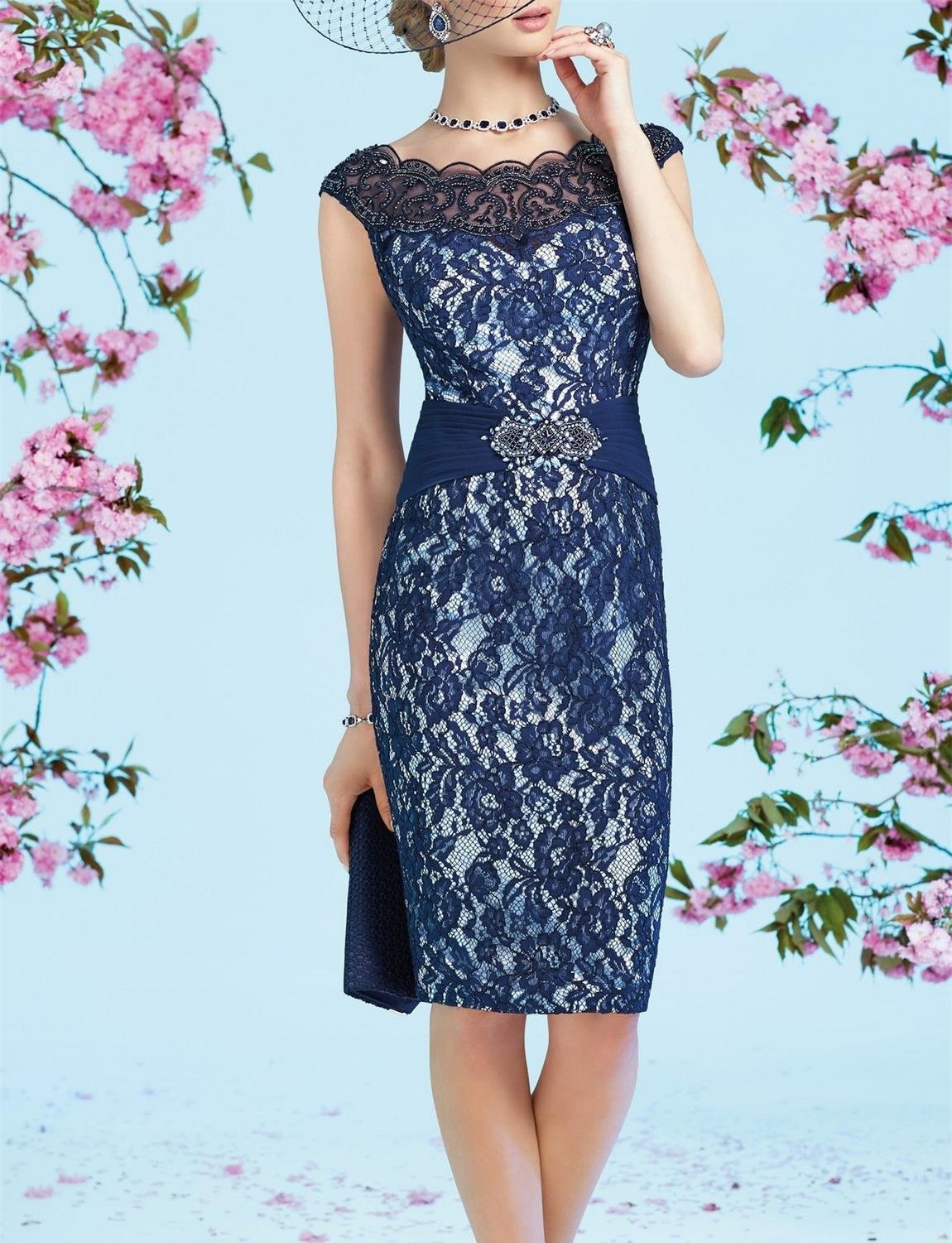 6face94f58dd8c ... Women's Dresses/Newdeve Chiffon Mother Of The Bride Dresses Tea Length  Two Pieces With Jacket. ; 