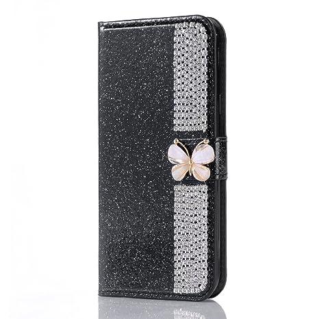 Glitter Brillante Funda para Samsung Galaxy Note 8, Misteem Cierre Magnético Mariposa Estrella Diseño Diamantes