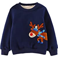 Little Hand Kids Christmas Jumper Sweatshirt Boys Long Sleeve Tops Fleece Winter Sweater Pullover Toddler T-Shirt Clothes Age 1 2 3 4 5 6 7 Years