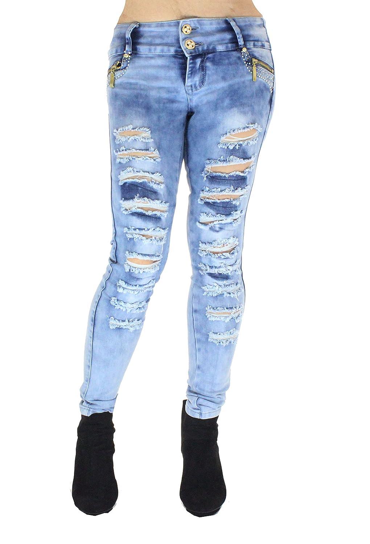 HADABELLA Vaqueros Jeans Wonder Push Up Súper Pitillo Skinny ...