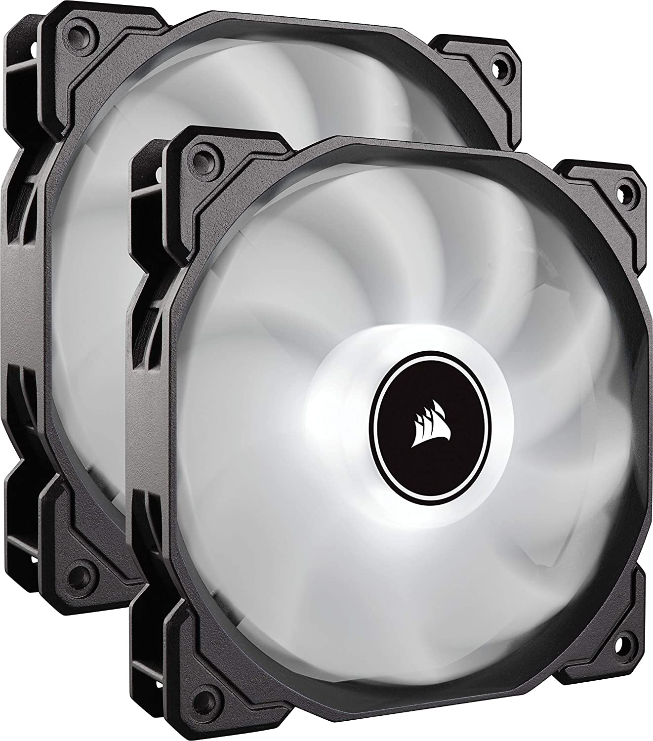 Venti. Caja CORSAIR AF140 LED Blanco Low Noise Dual Pack CO-9050088-WW CORSAIR AF140 LED, Carcasa del Ordenador, Enfriador, 1035 RPM, 1265 RPM, 26 DB, 62 CFM
