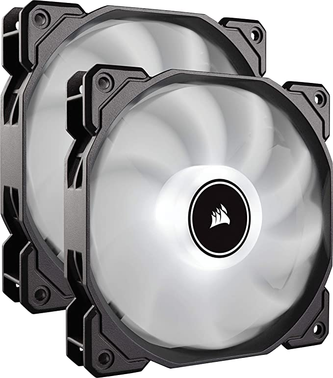 VENTI. CAJA CORSAIR AF140 LED BLANCO LOW NOISE DUAL PACK CO-9050088-WW CORSAIR AF140 LED, CARCASA DEL ORDENADOR, ENFRIADOR, 1035 RPM, 1265 RPM, 26 DB, 62 CFM: Amazon.es: Informática