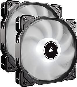 CORSAIR AF140 LED Low Noise Cooling Fan, Dual Pack - White, 140 mm