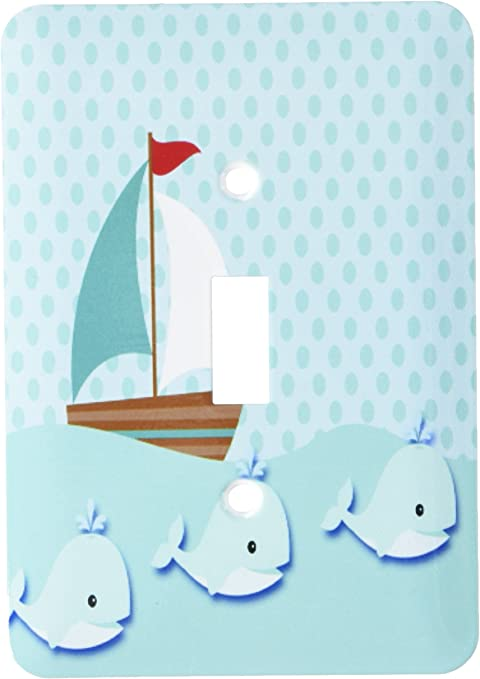 3drose Lsp 186908 1 Sailboat And Whales In Teal Cute Baby Design Light Switch Cover Amazon Com