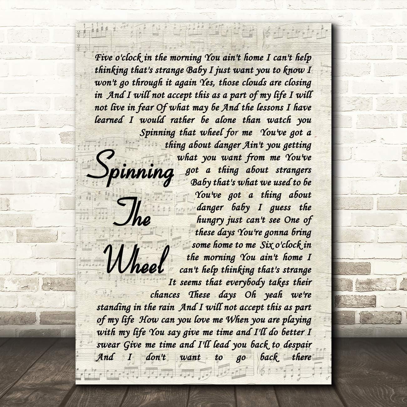 George Michael Spinning The Wheel - Lámina de canción con cita de ...