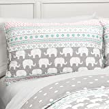Lush Decor Elephant Striped Quilt Reversible 4