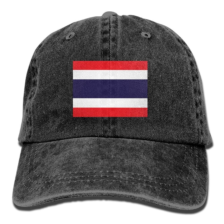 zengjiansm Flag of Thailand Unisex Adult Denim Dad Baseball Hat Sports Outdoor Cowboy Cap for Men and Women