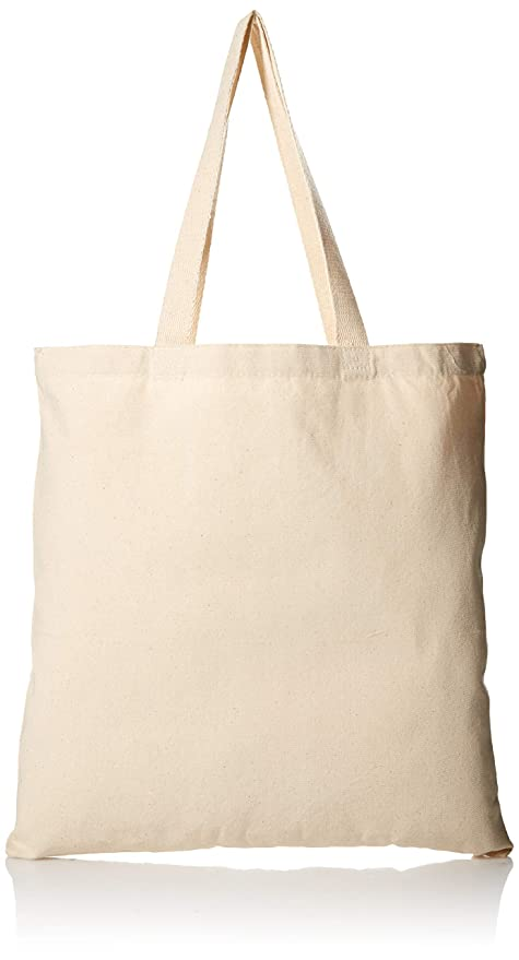 4b9019ae00e557 Amazon.com: 1 Dozen - Heavy Cotton Canvas Tote Bag (Natural) by ...