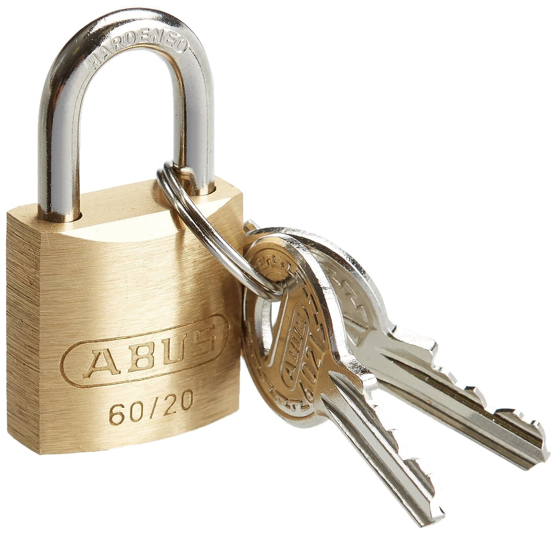 ABUS 200281-60//20/_KA6021 Candado lat/ón de 20 mm llaves iguales