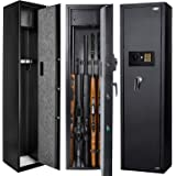 Quicktec Larger and Deeper Rifle Safe, New and Improved Gun Safe for 5-6 Rifles and Shotguns for Home, Quick Access Gun Cabin
