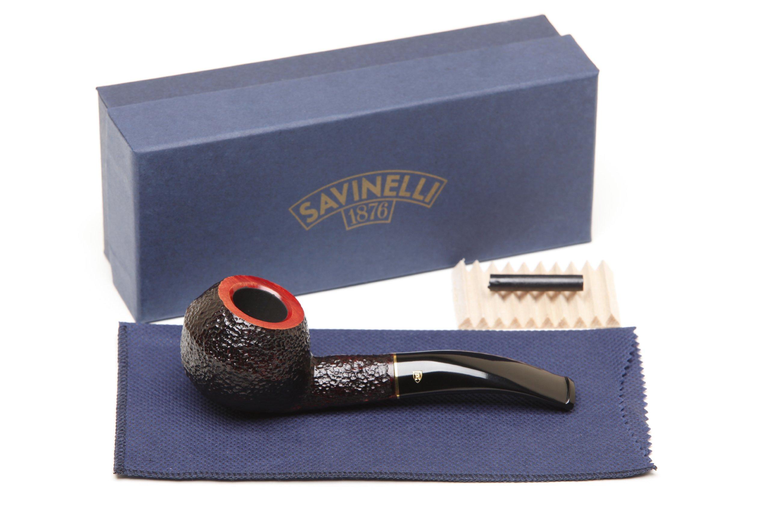 Savinelli Roma 673 KS Black Stem Tobacco Pipe