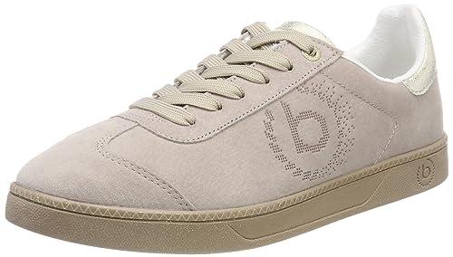 Bugatti 421282037459, Zapatillas para Mujer, Beige (Beige/Metallic), 38 EU