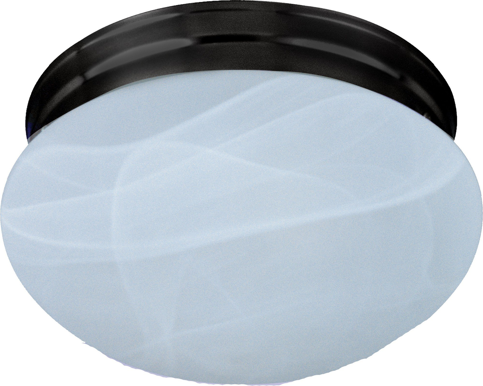 Maxim 5884MROI Essentials 1-Light Flush Mount, Oil Rubbed Bronze Finish, Marble Glass, MB Incandescent Incandescent Bulb , 60W Max., Dry Safety Rating, Standard Dimmable, Glass Shade Material, 4032 Rated Lumens