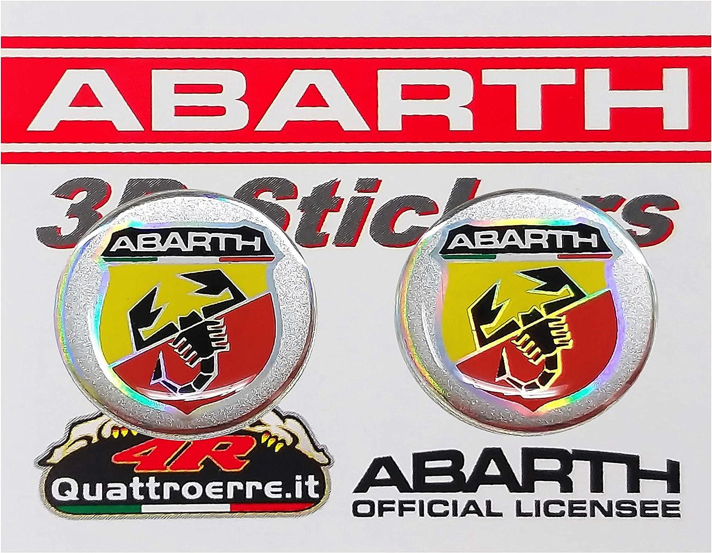 Abarth 21536/Stickers Pegatinas 3d escudo di/ámetro 21/mm