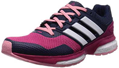0cea2dde370c6 adidas Women s Response Boost 2 Running Shoes Pink Rose (Bold Pink Silver  Metallic
