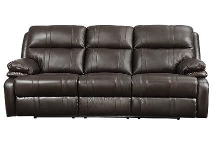 Amazon.com: Houston Leather Power Reclining Sofa: Kitchen ...