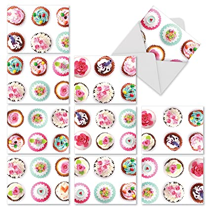 Amazon cupcake note cards for all occasions box of 10 cupcake note cards for all occasions box of 10 frosted fun m4hsunfo