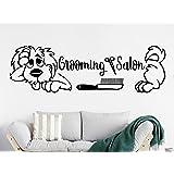 Amazon.com: Perro pared calcomanías bienvenida Grooming ...