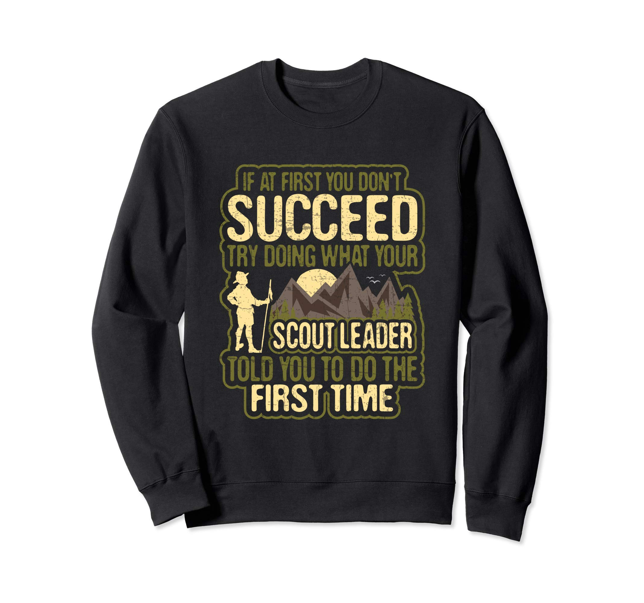 Funny Scout Leader Cub Camping Boy Hiking Scouting Troop Sweatshirt by Scouting Designs By Ark