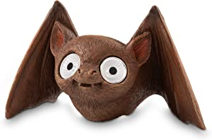 Solar Garden Baby Bat Decoration   Outdoor Yard Decor - Lawn Ornaments   Solar Decorative Lights for Patio, Balcony, Deck   Weather Resistant - LED   Housewarming Gift   Auto On/Off (Brown)