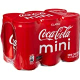 Coca-Cola Classic Mini Cans, 180ml, (Pack of 24)