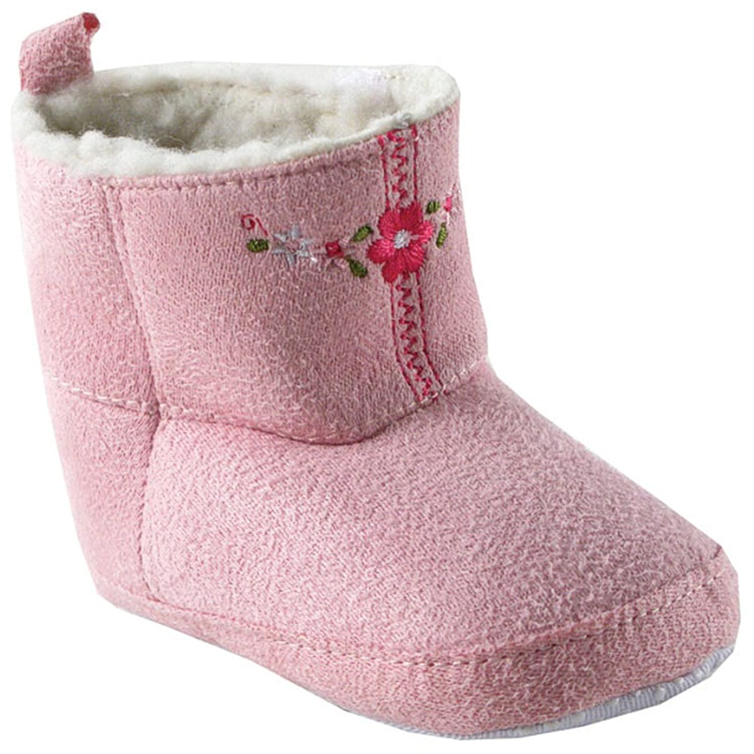 b70266d9574 Luvable Friends Kids' Embroidered Suede Baby Boot Crib Shoe