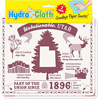 product image for Fiddler's Elbow Unbelievable, Utah Hydro Cloth | Eco-Friendly Sponge Cloths | Reusable Swedish Dish Cloths | Set of 2 Printed Sponge Cloths | Replaces 30 Rolls of Paper Towels