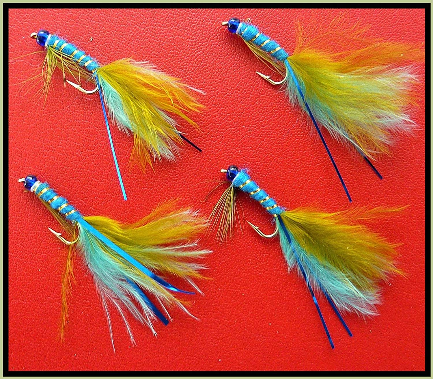 set Of 3 Trout Fly Fishing Flies Green flash buzzers barbless size 10