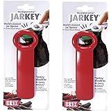Brix JarKey Original Easy Jar Key Opener, Set of 2, Red