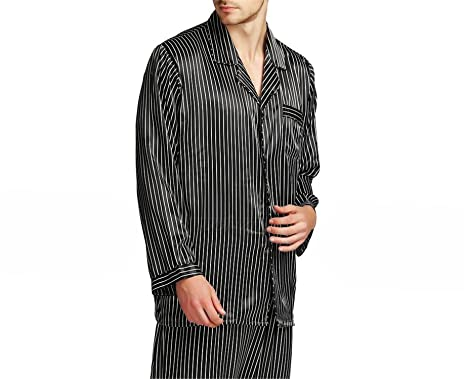 Jeff Tribble Mens Silk Satin Pajamas Set Pajama Sleepwear Set Loungewear S  7c0aba42b