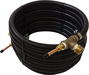 """NY Brew Supply Deluxe Counterflow Wort Chiller with Copper Tubing, 3/8"""", Bronze"""