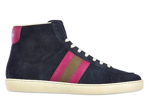 Gucci Zapatos Zapatillas de Deporte largas Mujer mirosoft BLU EU 40 338919 CKKA0 4072