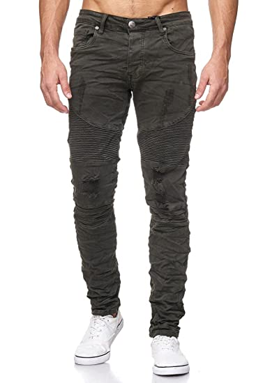 Herren Klassische Jeans Designer Biker Kleid Denim Hosen